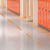 Social Distancing Floor Decals - Dashes