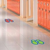 Social Distancing Floor Decals - Footprints