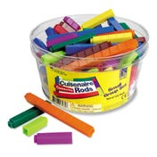 Interlocking Plastic Cuisenaire® Rods Small Group Set (in a tub)